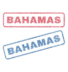 Bahamas textile stamps vector