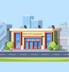 big city market colorful flat vector image