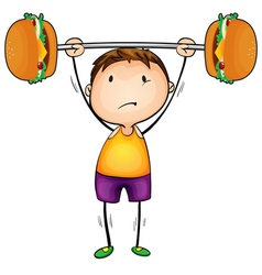 boy and excercise vector image