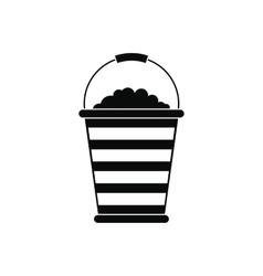 Bucket of turf icon vector image