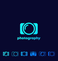 Camera icons photography logo set vector