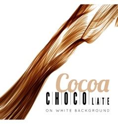 Chocolate splash vector