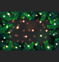 Christmas tree branches background festive xmas vector