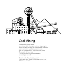 Coal Industry Poster Brochure vector