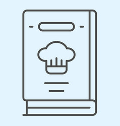 Cook book thin line icon recipes closed vector