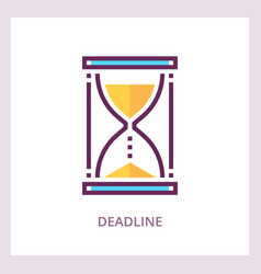 deadline icon time management concept vector image