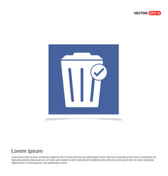delete icon - blue photo frame vector image