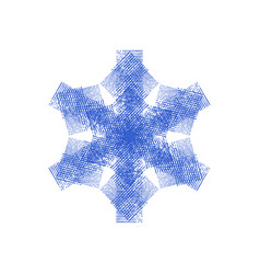 distress isolated snowflake vector image