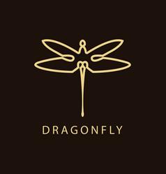 dragonfly luxury logo vector image
