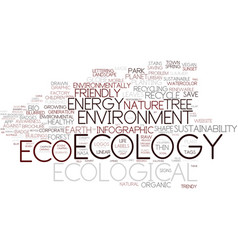 ecological word cloud concept vector image