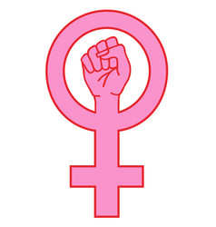 female sign with hand vector image