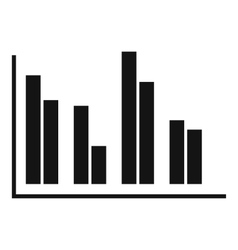 Financial analysis chart icon simple style vector