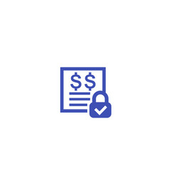 Fixed costs icon on white vector