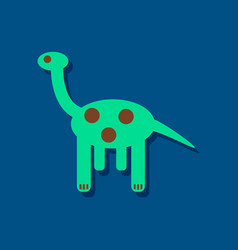 Flat icon design giraffe toy in sticker style vector