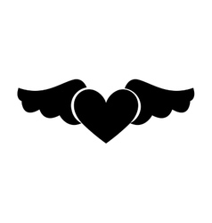 Game heart with wings isolated icon vector