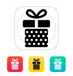 Gift box with dots icons on white background vector image