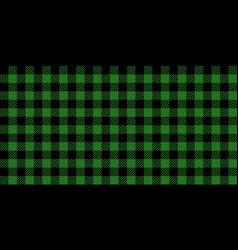 green and black lumberjack seamless pattern vector image