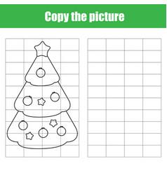 Grid copy worksheet educational children game vector