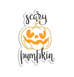Halloween scary pumpkin head vector image