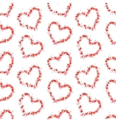 hearts contours made up of little pink vector image
