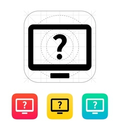 Help and FAQ desktop icon vector