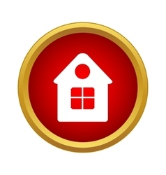 Home icon simple style vector image