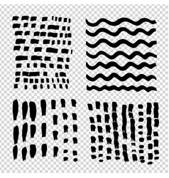 horizontal and vertical short wawy long strokes vector image