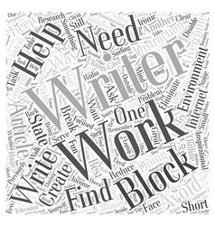 How to avoid and overcome writers block word cloud vector