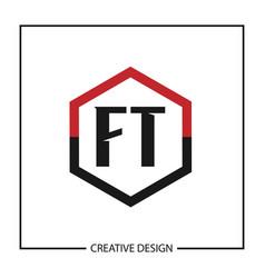 initial letter ft logo template design vector image