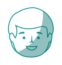 Isolated cute man face vector