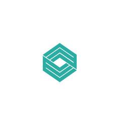 letter e logo line design abstract vector image