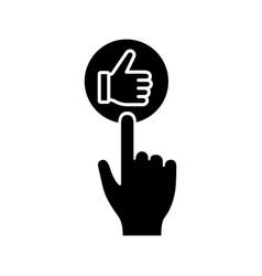 like button click glyph icon vector image