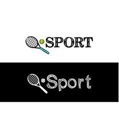 logo for sport school subject vector image