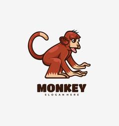 logo monkey simple mascot style vector image