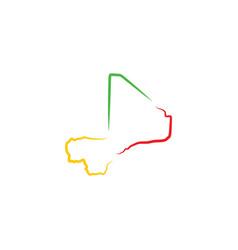 Mali map icon logo symbol element vector