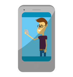 man with smartphone vector image
