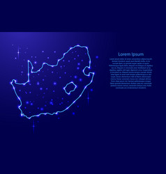 map south africa from the contours network blue vector image