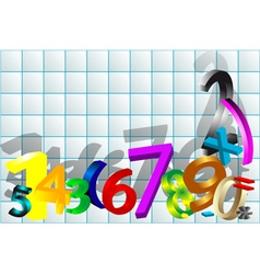 Mathematical background vector