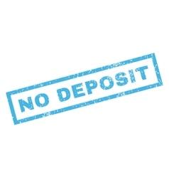 No Deposit Rubber Stamp vector
