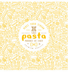 pasta label and frame with pattern vector image