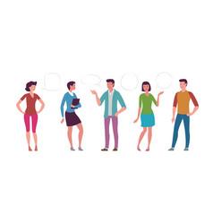 people set in flat style cartoon vector image