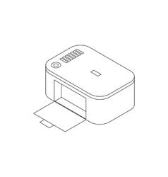 Photo printer icon isometric 3d style vector