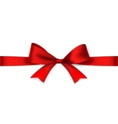 Red satin bow vector image vector image