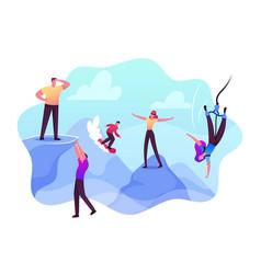 Risky behavior extreme recreation and danger vector