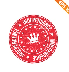 rubber stamp independence - - eps10 vector image