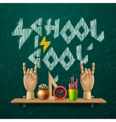 School is cool template with schools workspace vector image