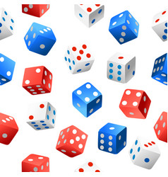 Seamless pattern casino dice collection of vector