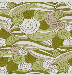 Seamless pattern swirl and line vector
