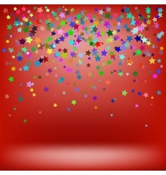 Set of Colorful Stars Starry Pattern vector image