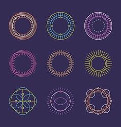 Set of Minimal Geometric Vintage Frames vector